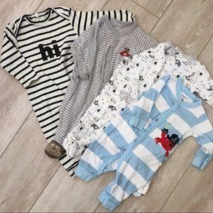Long sleeve and pants pajamas collection (6m)